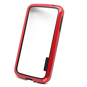 Mini - Tough Silicone Gel Rubber Protective Shell Bumper Case Cover for Samsung Galaxy S IV S4 I9500 ,Color: Red