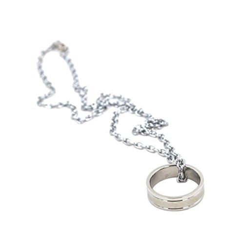 Lychee Anime Kuroko no Basuke Metal Sliver Chain Ring Pendant Necklace