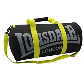 Amazon.com   Lonsdale Barrel Bag Different Styles of Colors (Charcoal lime)    Beauty cbed211f2959f