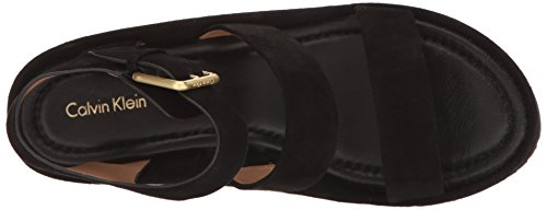 Klein Calvin Women Sandal Wedge Black Hailey S8wC8dq