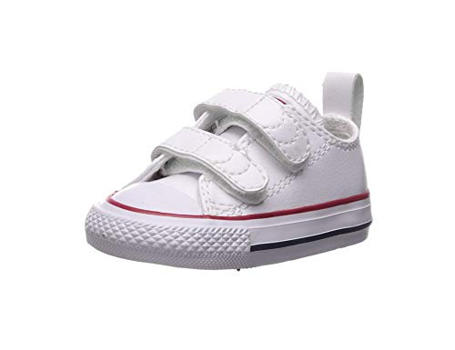 Converse Kids' Chuck Taylor All Star 2v Low Top Sneaker (9 M US Toddler, White Leather) (Best Low Top White Sneakers)