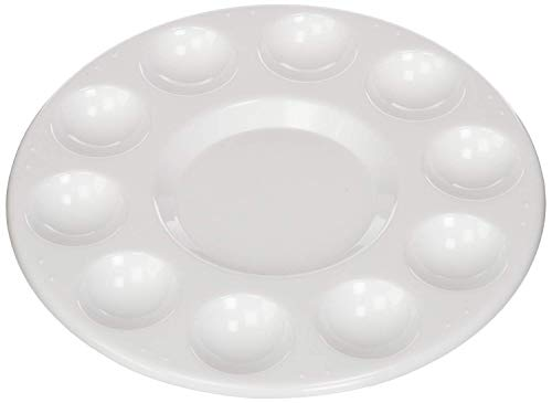 Olia Design Round Professional Plastic Paint Platte Tray White - RoundPlatte