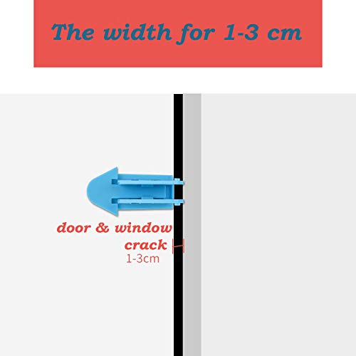 15 Packs Sliding Door Window Closet Lock - Baby Kids Children Pets Security Safe Sliding Locks with 3M Adhesive Tape, Mixed Color by Chinashow (Image #4)