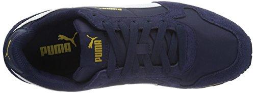 Puma Unisex-st Volwassenen Runner Nl Low-top, Grau Blau (peacoat Witte 31)