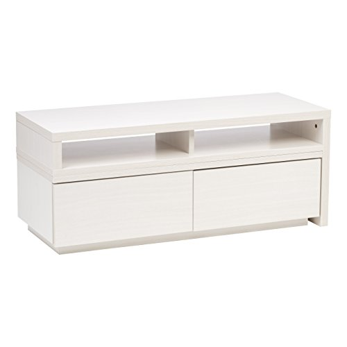 IRIS Expanding Media Stand, Off White (Entertainment Expandable Console Center)
