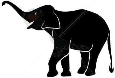 Elefante silueta – Tatuajes temporales por temptatz: Amazon.es ...