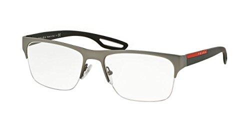 Prada Linea Rossa Men's PS 55FV Eyeglasses Gunmetal Rubber - Men Prada Frames