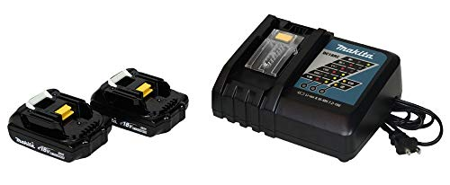 Makita (1) DC18RC Charger & (2) 18 Volt BL1815 Lithium Ion Batteries (Certified Refurbished)