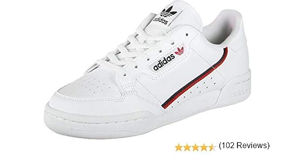 Adidas Continental 80 J, Zapatillas de Deporte Unisex-Child, Blanco (Ftwbla/Escarl/Maruni 000), 37 1/3 EU: Amazon.es: Zapatos y complementos