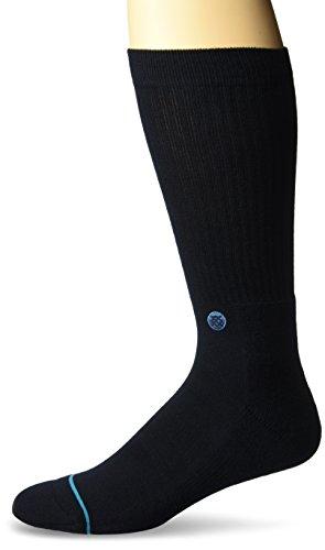 Stance Men's Icon Classic Crew Socks, Dark Navy, Medium (Shoe: 6-8.5) from Stance