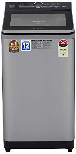 Panasonic 8 kg Built-in Heater Fully-Automatic Top Loading Washing Machine (NA-F80S8SRB,Stainless Steel, Active Foam System) with Built in Heater, EcoNavi, Gentle Hand Wash