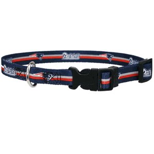 Officially Licensed by the NFL- New England Patriots Dog Collar - Medium