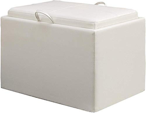 Convenience Concepts Modern Accent Storage Ottoman (Ottoman White Storage)