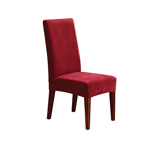 SureFit Stretch Pique - Shorty Dining Room Chair Slipcover - Garnet (SF36850)