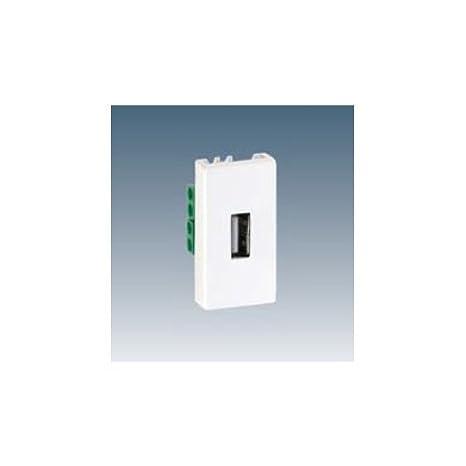 Simon 2701090-030 - Conector Con Tapa Para Usb A Hembra Mó dulo Estrecho