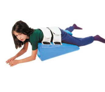 Cando Skillbuilders Deluxe Strap Wedge for Pediatric Physical Therapy - 20'' X 22'' X 8'' - Small