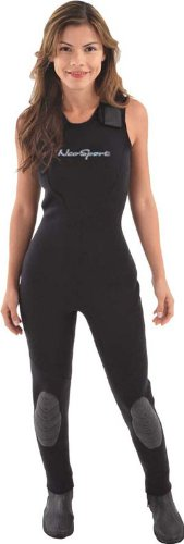 NeoSport Wetsuits Women's Premium Neoprene 3mm Jane,All Black, 10 - Diving, Snorkeling & Wakeboarding by Neo-Sport