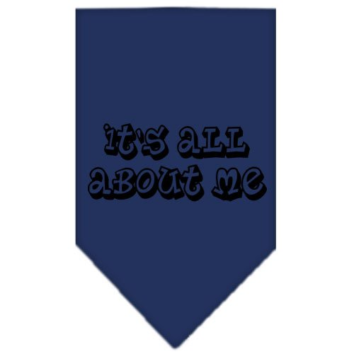 UPC 099994287344, It's All About Me Screen Print Bandana Navy Blue Small
