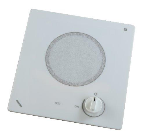 Kenyon B49518 6-1/2-Inch Alpine Single Burner Cooktop with Analog Control UL, 240-volt, White