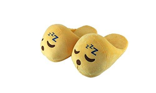 Hausschuhe, Schlappen, Pantoffeln, Slippers mit Smiley-Gesichtern Zzz