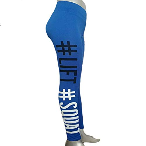 - Fine Style 2019 Digital Printing High Waist Girl Ladies Fitness Yoga Sports and Leisure Leggings,X-Large,6028Blue