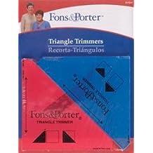 """Bulk Buy: Dritz Fons & Porter Triangle Trimmers 1/2"""" & 1/4"""" 2/Pkg R7847 (2-Pack)"""