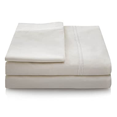600 Thread Count 100% Egyptian Cotton Deep Pocket Sheet Set - Cal King - Cream