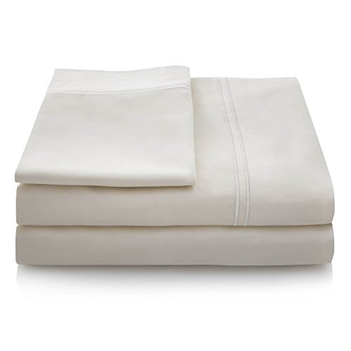 Linenspa 600 Thread Count 100  Egyptian Cotton Deep Pocket Sheet Set   Twin   Cream