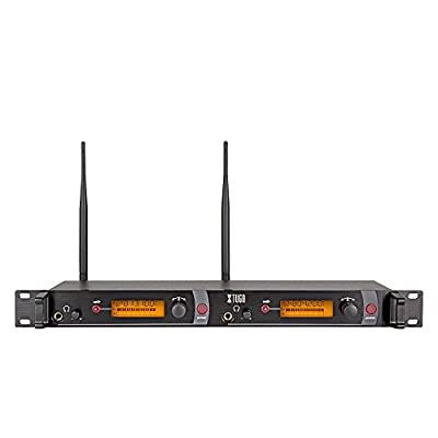 XTUGA RW2080 Rocket Audio Whole Metal Wireless in Ear Monitor System 2 Channel 2 Bodypack Monitoring with in Earphone Wireless Type Used for Stage or Studio ¡ by Made in China