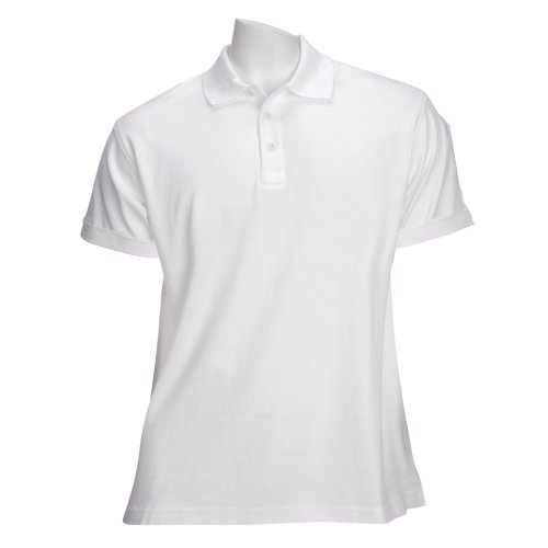 (5.11 Women's TACTICAL Polo Short Sleeve Tactical Shirt, Style 61164, White, M)