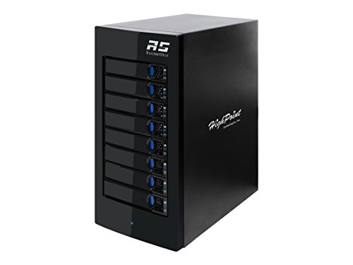 HighPoint 8-Bay Thunderbolt 3 Hardware RAID Storage Enclosure (RocketStor 6618A) by High Point