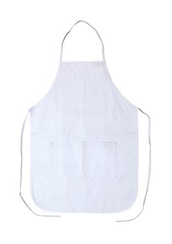 Set of 12 - Canvas Medium Apron (White) 17.5 X 24