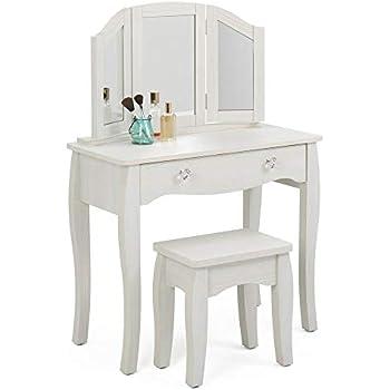 Amazon Com Girls Sweetheart Vanity Table And Stool Set