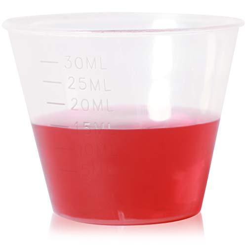 Clear Plastic Medicine Cups (1 oz, 1000 Pack)