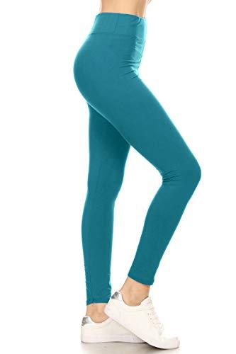 343cb7fe15 Leggings Depot Yoga Waist REG/Plus Women's Buttery Soft Solid ...