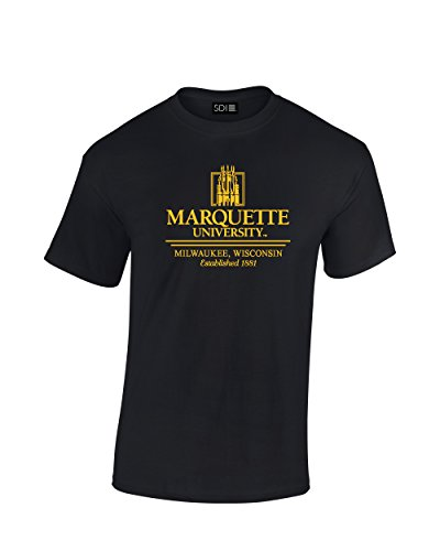 NCAA Marquette Golden Eagles Classic Seal T-Shirt, X-Large, Black ()