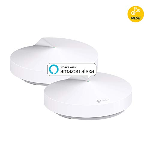 TP-Link Deco Whole Home Mesh WiFi System - Homecare Support, Seamless Roaming, Adaptive Routing, Up to 3,800 sq. ft. Coverage, Works with Alexa (Deco M5 2 Pack)