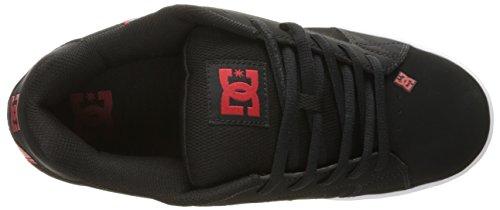 DC Net M - Zapatillas de deporte de cuero nobuck para hombre Negro/Rojo