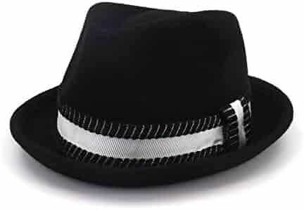 b82c55bcb6be6a KKONION Fedora Hats Unisex Fashion Summer Navy Blue Beach Straw Hats for Men  Trilby Wide Brim ...