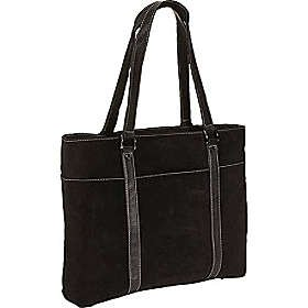 Scully Suede Computer Tote - Black by Scully