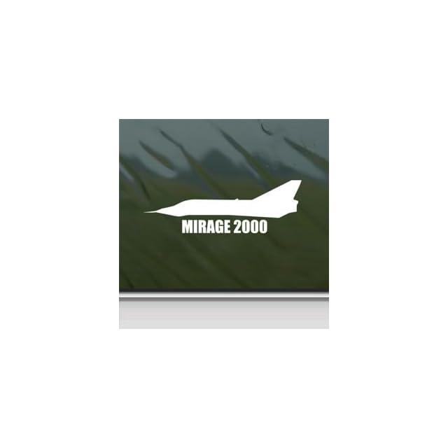 Mirage 2000 White Sticker Decal Military Soldier White Car Window Wall Macbook Notebook Laptop Sticker Decal