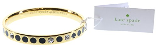 Kate Spade New York Love Notes Take a Bow Bangle Bracelet (Spot The Spade - Black)