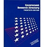 Government Research Directory, , 078768418X