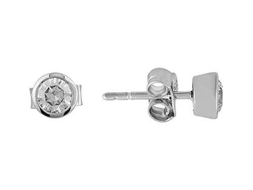 Birgie Diamants et Bijoux - Boucles d'Oreilles Diamants Solitaire 0.51 Carat-Femme- or Blanc 201E0033