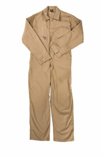 - LAPCO CVFRD7KH-7XL RG Lightweight 100-Percent Cotton Flame Resistant Deluxe Coverall, Khaki, 7X-Large, Regular