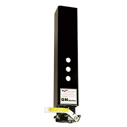 PopUp GN2 Black Gooseneck self-Latching Coupler for 2 5/16'' Ball, 4.5'' sq. Tube by Pop-Up