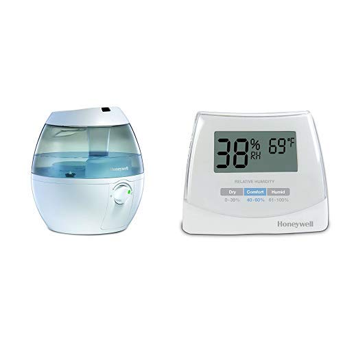 Honeywell HUL520W Mistmate Cool Mist Humidifier, White withHumidity Monitor, White