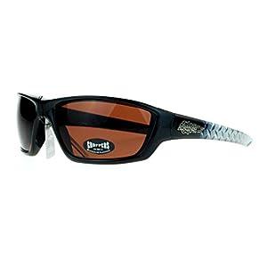 Choppers Steel Diamond Plate Arm Rectangular Warp Motorcycle Sunglasses