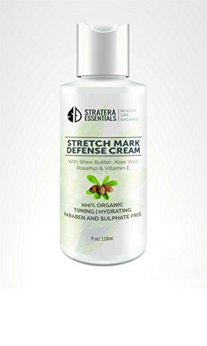 Stretch Mark Defense Cream with Shea Butter, Aloe Vera, Rosehip and Vitamin E ()