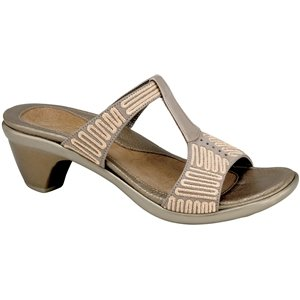 Naot Women's Delia Sandals,Canvas Nubuck/Pearl Patent Leather,37 M EU